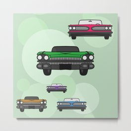 Route 66 colorful cars Metal Print