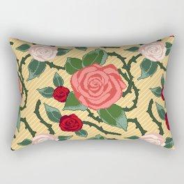 ROSES IN PIXEL Rectangular Pillow