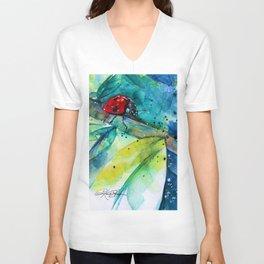 Ladybug - by Kathy Morton Stanion Unisex V-Neck