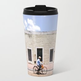 Riding a Bike in Merida, Mexico Travel Mug