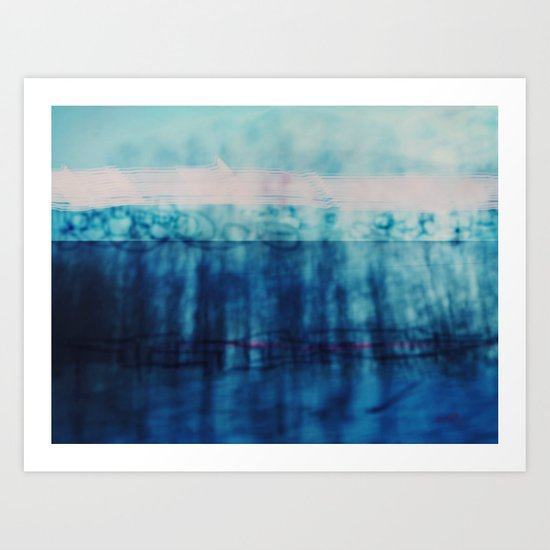 Abstract ~ Blue Landscape Art Print