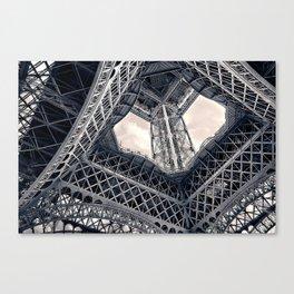 Eiffel Steel Canvas Print