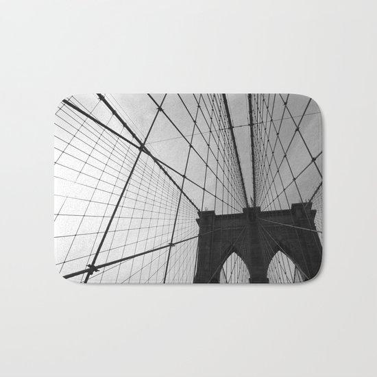 Brooklyn Bridge Black and White Bath Mat