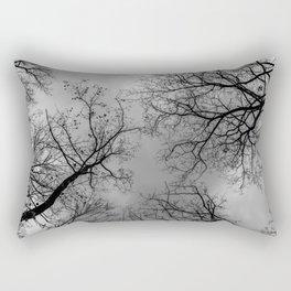 Grey sky, naked trees Rectangular Pillow