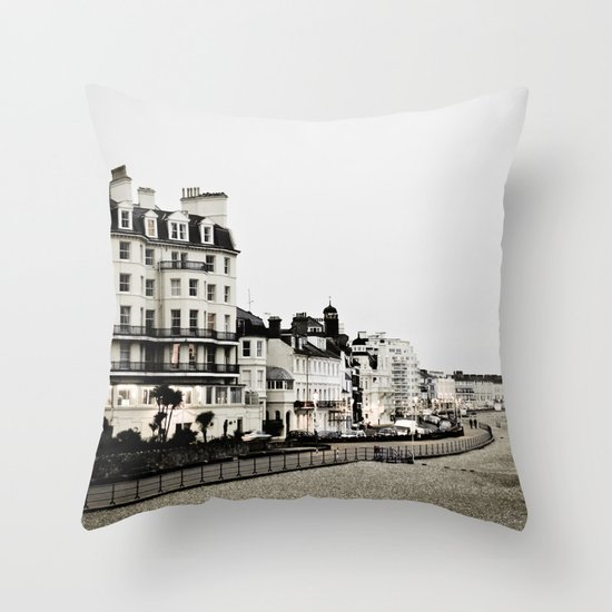 Old sea front Throw Pillow