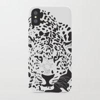 leopard iPhone & iPod Cases featuring Leopard  by Karen Hischak