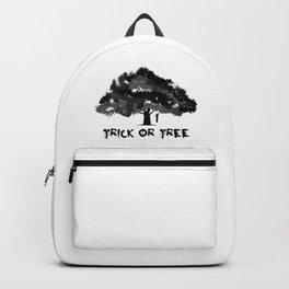 Trick or tree (B+W) Backpack