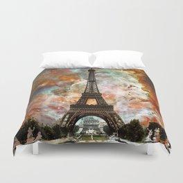 The Eiffel Tower - Paris France Art By Sharon Cummings Duvet Cover