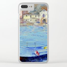 Lonely boat Clear iPhone Case