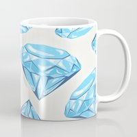 diamond Mugs featuring diamond by Ceren Aksu Dikenci