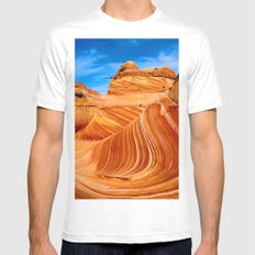Land Waves |I| Mens Fitted Tee MEDIUM White