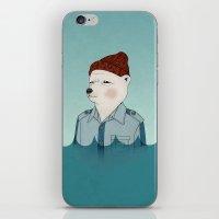 the life aquatic iPhone & iPod Skins featuring Bill Murray - Life Aquatic by Drivis