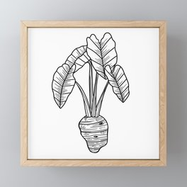 UrbanNesian Taro Framed Mini Art Print