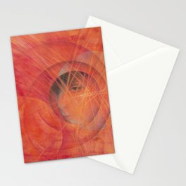 Face  / Pastel Painting Stationery Cards