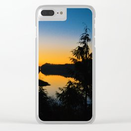 Sunrise in Ucluelet on Vancouver Island, BC Clear iPhone Case