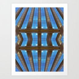 Bended Buildings Art Print