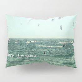 Summer dreams. Kite surf Pillow Sham
