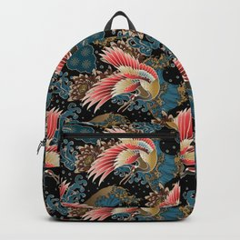 cranes and waves Backpack