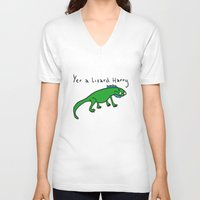 witchcraft V-neck T-shirts featuring Witchcraft and Lizardry by fantasticmistersmith