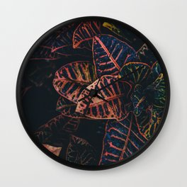 Dark Leaves - Nature Photography Wall Clock