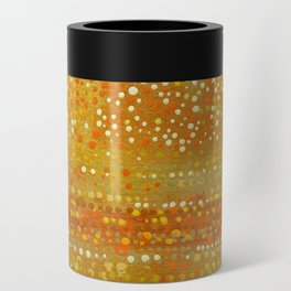 Landscape Dots - Orange Can Cooler