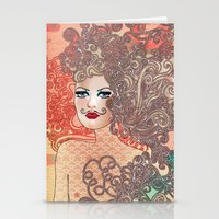 moustache Stationery Cards featuring Moustache by daniela grigore