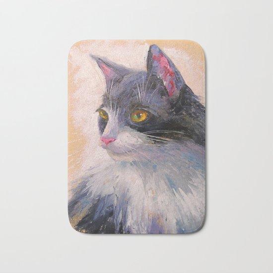 A lovely cat Bath Mat