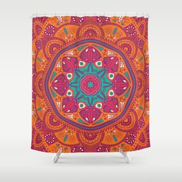 Colorful Mandala Pattern 017 Shower Curtain
