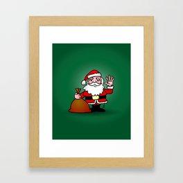 Santa Claus waving Framed Art Print