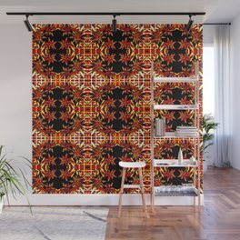 Traditional Christmas Star Pattern Wall Mural