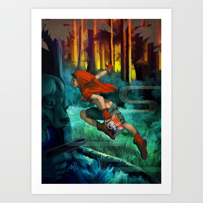 Discover the motif RED HOOD by Stanley Artgerm Lau as a print at TOPPOSTER