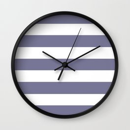 Rhythm - solid color - white stripes pattern Wall Clock