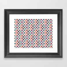 Retro Lips Pattern Framed Art Print