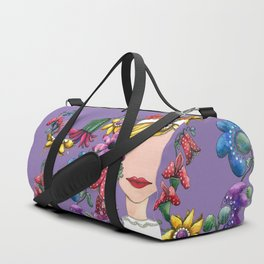 I Love the Flower Girl Lavender Duffle Bag