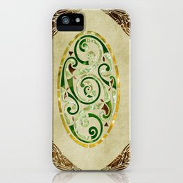 Celtic Old Traditional Tapestry iPhone Case