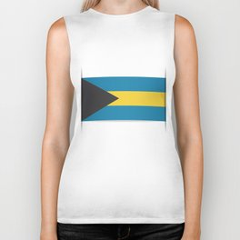 Flag of Bahamas. The slit in the paper with shadows. Biker Tank