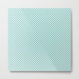 Turquoise Polka Dots Metal Print
