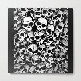 Skull Pattern Metal Print
