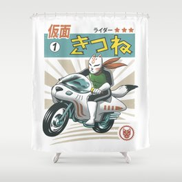 Kitsune Kamen Rider Shower Curtain