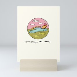 spoonbridge and cherry illo Mini Art Print
