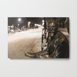 Annoyed Statue Metal Print