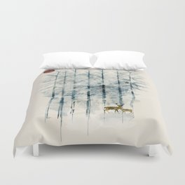 the blue forest Duvet Cover