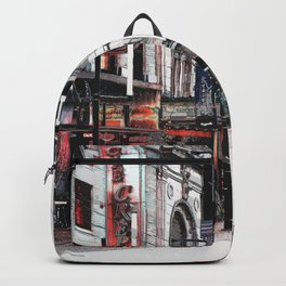 Vancouver street life and city lights Backpack