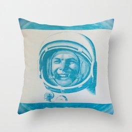Russian Cosmonaut Poster Throw Pillow