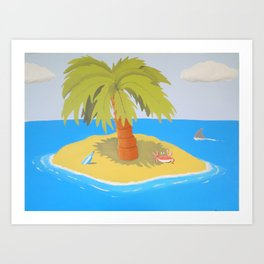 Cross Eyed Crab Art Print