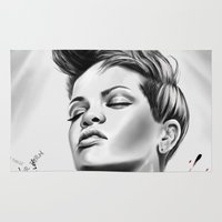 rihanna Area & Throw Rugs featuring Rihanna by C.Love Designs
