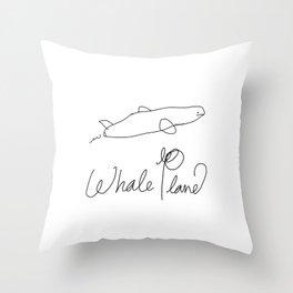 Whale Plane  Throw Pillow