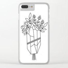 Crystal Flower Bouquet Clear iPhone Case