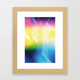 quadrat dreieck kreis Framed Art Print