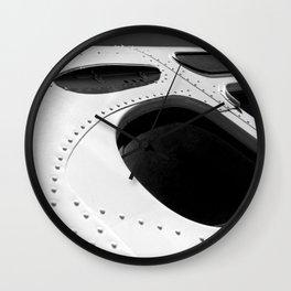 VINTAGE - Cool Vintage Passenger Bus - Monochrome Wall Clock